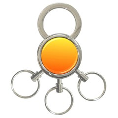 Rainbow Yellow Orange Background 3 Ring Key Chains