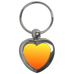 Rainbow Yellow Orange Background Key Chains (heart)