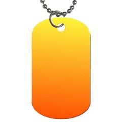 Rainbow Yellow Orange Background Dog Tag (two Sides)