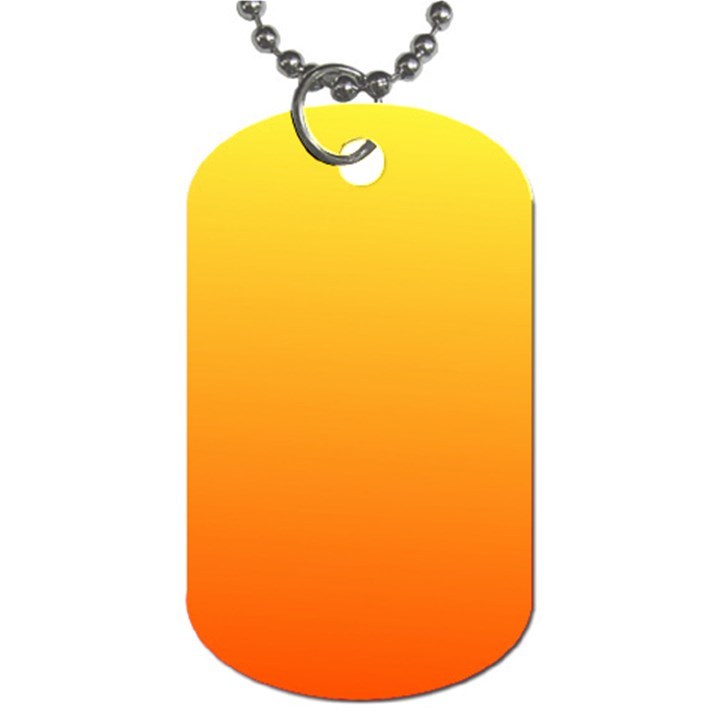 Rainbow Yellow Orange Background Dog Tag (Two Sides)