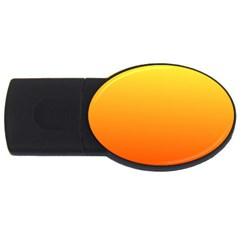Rainbow Yellow Orange Background USB Flash Drive Oval (2 GB)
