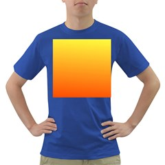 Rainbow Yellow Orange Background Dark T Shirt