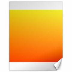 Rainbow Yellow Orange Background Canvas 12  X 16