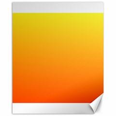 Rainbow Yellow Orange Background Canvas 16  X 20