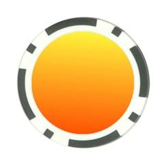 Rainbow Yellow Orange Background Poker Chip Card Guard