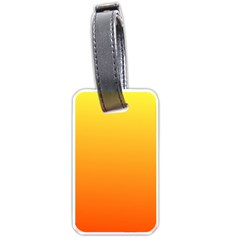 Rainbow Yellow Orange Background Luggage Tags (one Side)