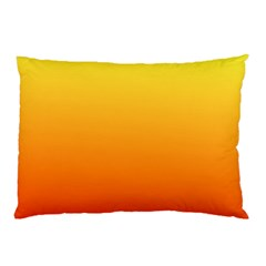 Rainbow Yellow Orange Background Pillow Case (two Sides)
