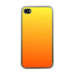 Rainbow Yellow Orange Background Apple Iphone 4 Case (clear)