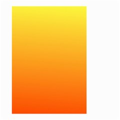 Rainbow Yellow Orange Background Small Garden Flag (two Sides)