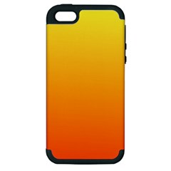 Rainbow Yellow Orange Background Apple Iphone 5 Hardshell Case (pc+silicone)