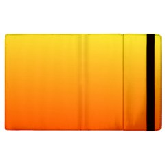 Rainbow Yellow Orange Background Apple Ipad 2 Flip Case