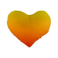 Rainbow Yellow Orange Background Standard 16  Premium Heart Shape Cushions
