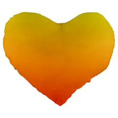 Rainbow Yellow Orange Background Large 19  Premium Heart Shape Cushions