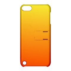 Rainbow Yellow Orange Background Apple Ipod Touch 5 Hardshell Case With Stand