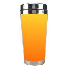 Rainbow Yellow Orange Background Stainless Steel Travel Tumblers