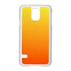 Rainbow Yellow Orange Background Samsung Galaxy S5 Case (white)