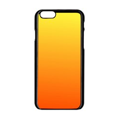 Rainbow Yellow Orange Background Apple Iphone 6/6s Black Enamel Case