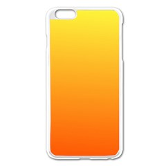 Rainbow Yellow Orange Background Apple Iphone 6 Plus/6s Plus Enamel White Case