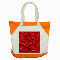 Red Abstract Cherry Balls Pattern Accent Tote Bag
