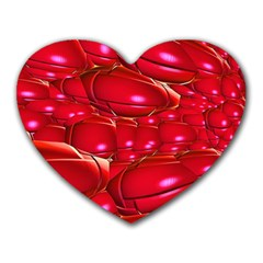 Red Abstract Cherry Balls Pattern Heart Mousepads