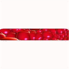 Red Abstract Cherry Balls Pattern Small Bar Mats