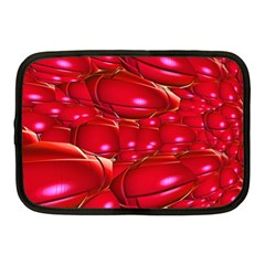 Red Abstract Cherry Balls Pattern Netbook Case (Medium)