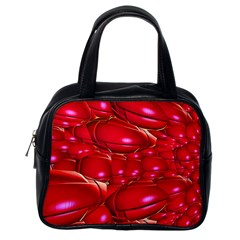 Red Abstract Cherry Balls Pattern Classic Handbags (one Side)