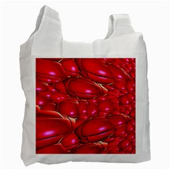 Red Abstract Cherry Balls Pattern Recycle Bag (One Side)