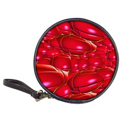 Red Abstract Cherry Balls Pattern Classic 20 Cd Wallets