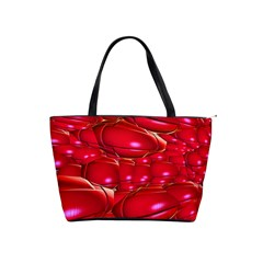 Red Abstract Cherry Balls Pattern Shoulder Handbags