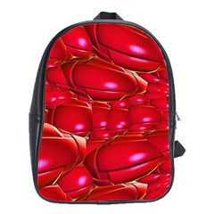 Red Abstract Cherry Balls Pattern School Bags(large)