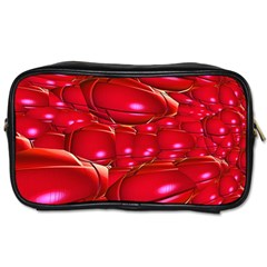 Red Abstract Cherry Balls Pattern Toiletries Bags 2 Side