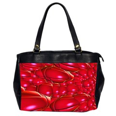 Red Abstract Cherry Balls Pattern Office Handbags (2 Sides)