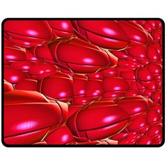 Red Abstract Cherry Balls Pattern Fleece Blanket (medium)