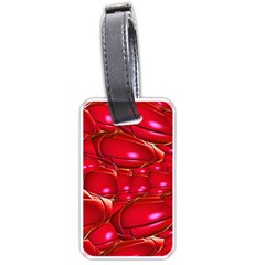 Red Abstract Cherry Balls Pattern Luggage Tags (two Sides)