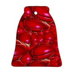 Red Abstract Cherry Balls Pattern Ornament (bell)