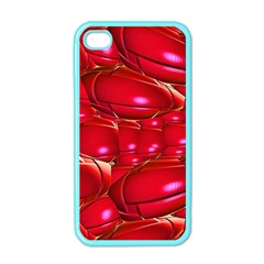 Red Abstract Cherry Balls Pattern Apple Iphone 4 Case (color)
