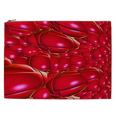 Red Abstract Cherry Balls Pattern Cosmetic Bag (xxl)