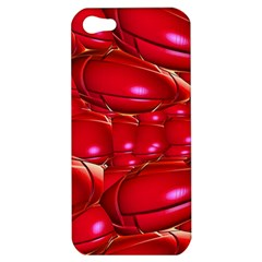 Red Abstract Cherry Balls Pattern Apple Iphone 5 Hardshell Case