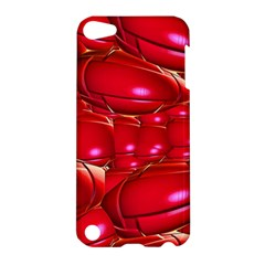 Red Abstract Cherry Balls Pattern Apple Ipod Touch 5 Hardshell Case