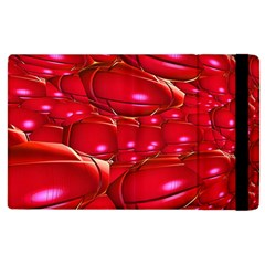 Red Abstract Cherry Balls Pattern Apple Ipad 2 Flip Case