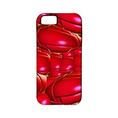 Red Abstract Cherry Balls Pattern Apple Iphone 5 Classic Hardshell Case (pc+silicone)