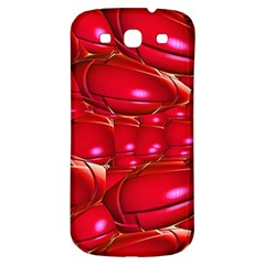 Red Abstract Cherry Balls Pattern Samsung Galaxy S3 S Iii Classic Hardshell Back Case