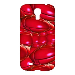 Red Abstract Cherry Balls Pattern Samsung Galaxy S4 I9500/i9505 Hardshell Case