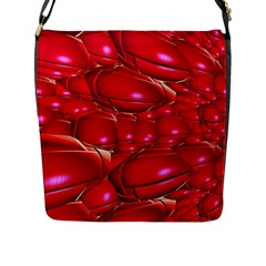 Red Abstract Cherry Balls Pattern Flap Messenger Bag (l)