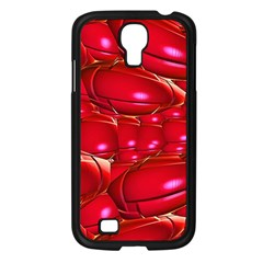 Red Abstract Cherry Balls Pattern Samsung Galaxy S4 I9500/ I9505 Case (black)