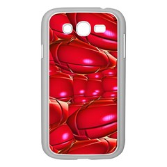 Red Abstract Cherry Balls Pattern Samsung Galaxy Grand Duos I9082 Case (white)