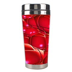 Red Abstract Cherry Balls Pattern Stainless Steel Travel Tumblers