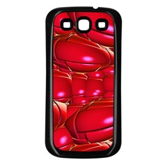 Red Abstract Cherry Balls Pattern Samsung Galaxy S3 Back Case (black)