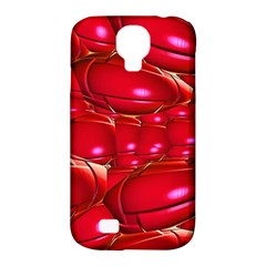Red Abstract Cherry Balls Pattern Samsung Galaxy S4 Classic Hardshell Case (pc+silicone)